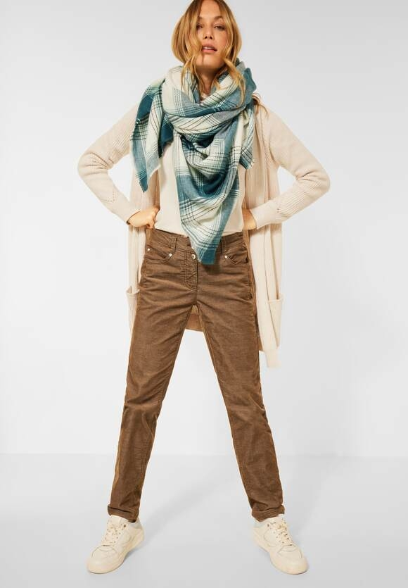 """CECIL   Casual Fit Cord Hose """"Gesa""""   Farbe: toffee brown 13294, 374446"""