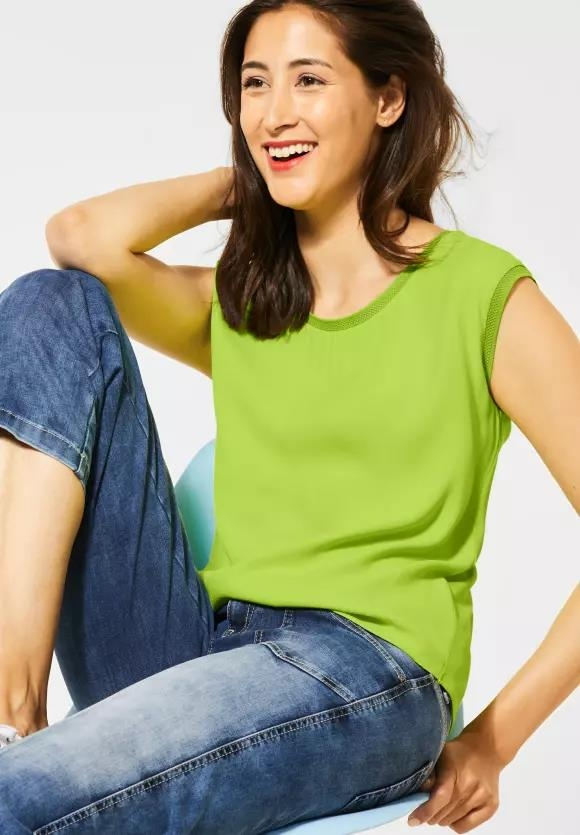 Street One | T-Shirt mit Unifarbe | Farbe: laser lime 12368, 315181