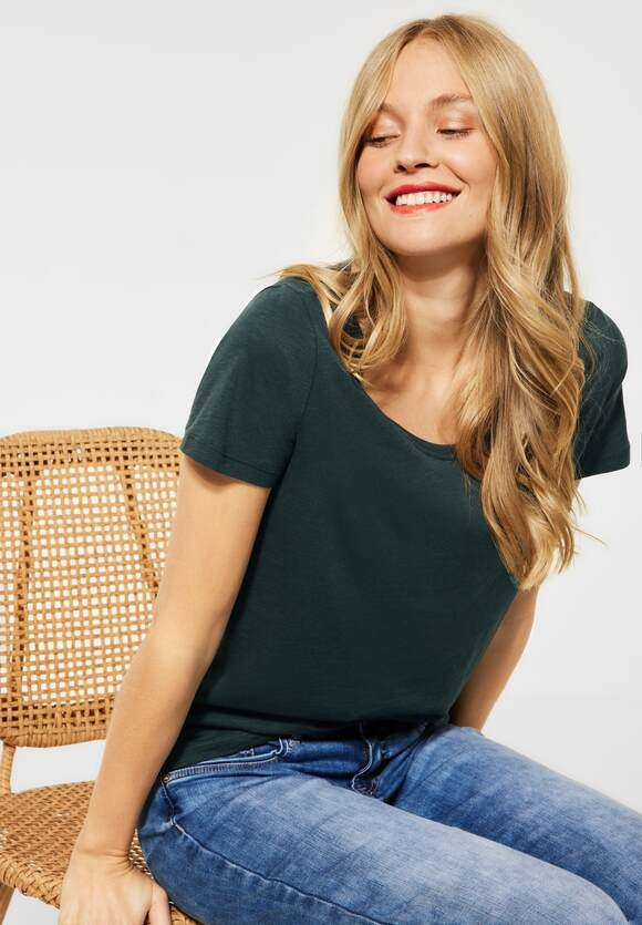 "Street One | Cosy T-Shirt ""Gerda"" | Farbe: spruce green 13102, 316184"