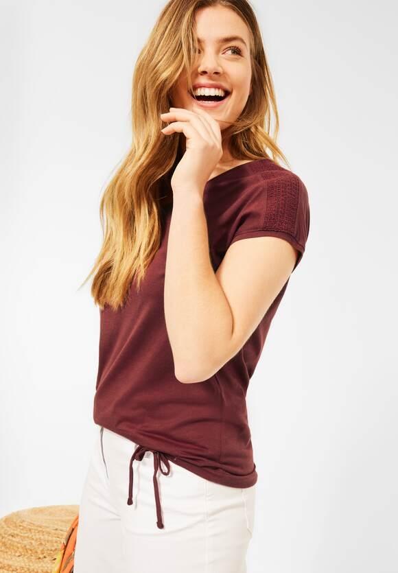 Cecil | Shirt mit Smok-Details | Farbe: copper brown 13160, 316035