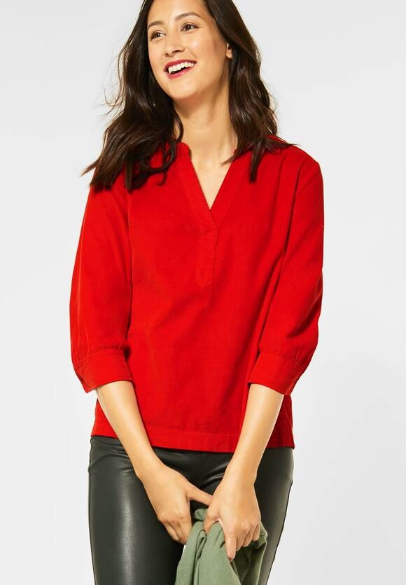 Street One | Bluse in Cord-Optik | Farbe: blazing red 12509, 342246