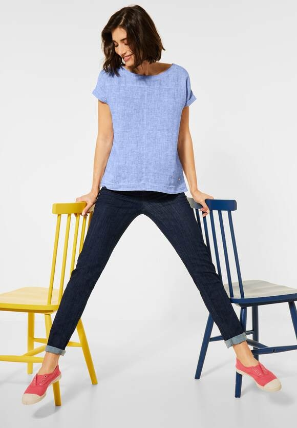 Cecil | Chambray Bluse | Farbe: blouse blue melange 22033, 342448
