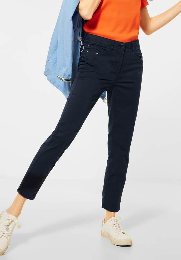 """Cecil   Hose """"Vicky"""" in Hight Waist   Farbe: deep blue 10128, 373975"""