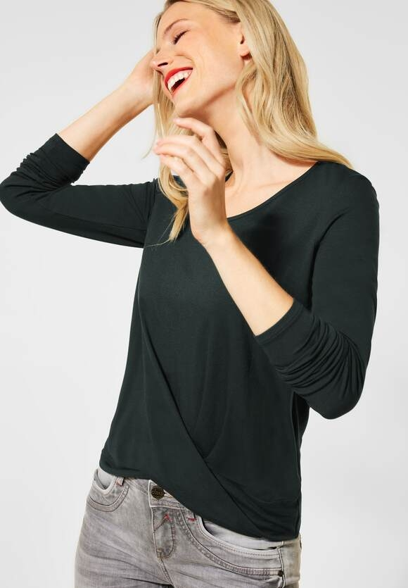 Street One | Shirt mit Knotendetail | Farbe: endless green 12508, 315493