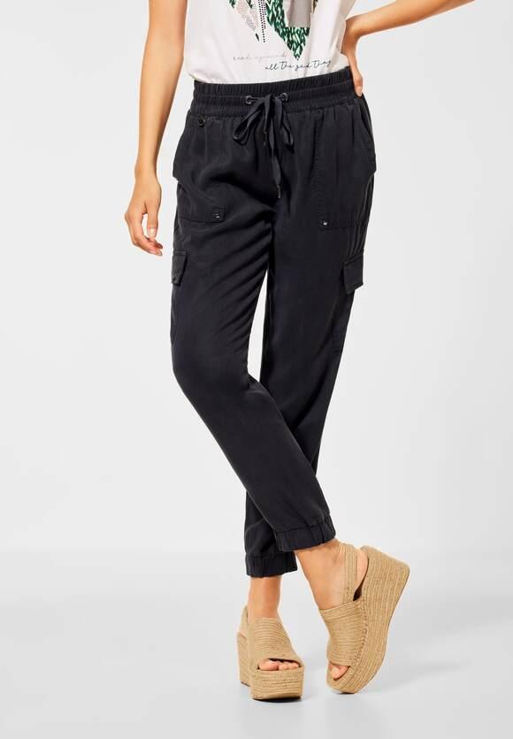 """Street One   Loose Fit Hose """"Bonny"""" im Cargo Stil   Farbe: black 10001, 374307"""