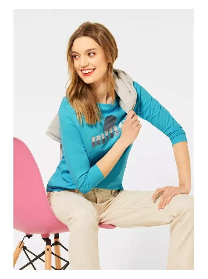 Street One   Shirt mit Frontprint   Farbe: shining aqua 32854, 315954