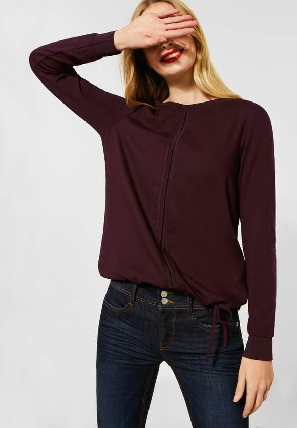 Street One   Materialmix-Shirt in Uni   Farbe: burnt sienna red 12699, 315731