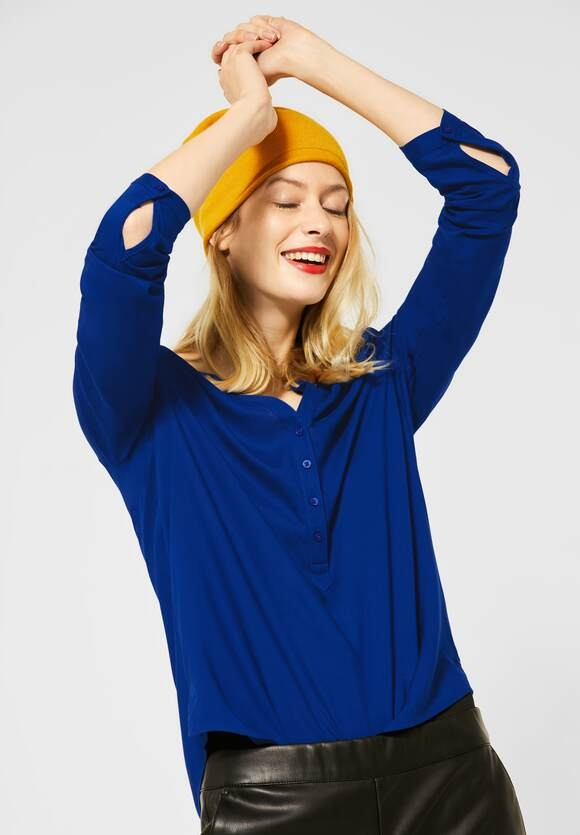"Street One | Bluse ""Bamika"" im Basic Style | Farbe: cobalt blue 11784, 342344"