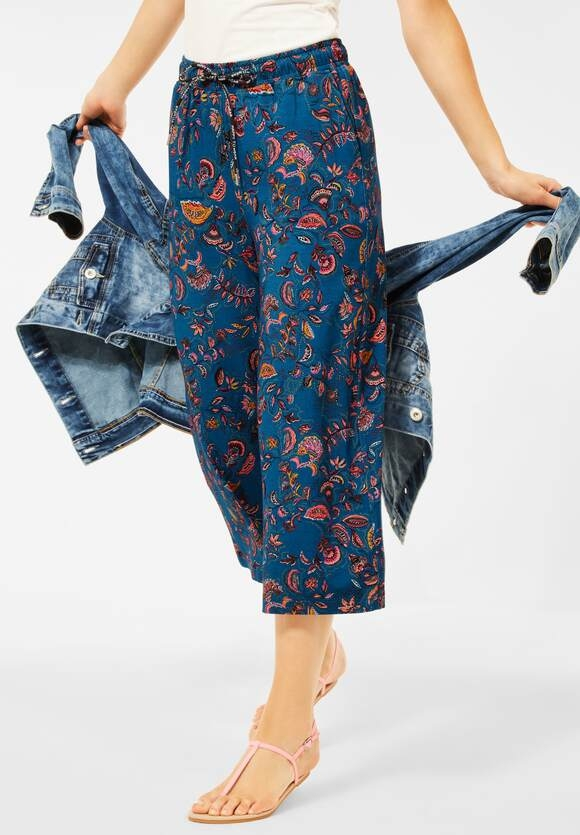 Cecil   Loose Fit Hose mit Paisley   Farbe: ocean blue 32972, 374011