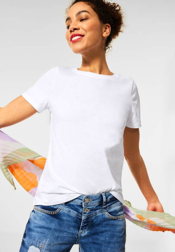 Street One | Basic T-Shirt | Farbe: white 10000, 316011