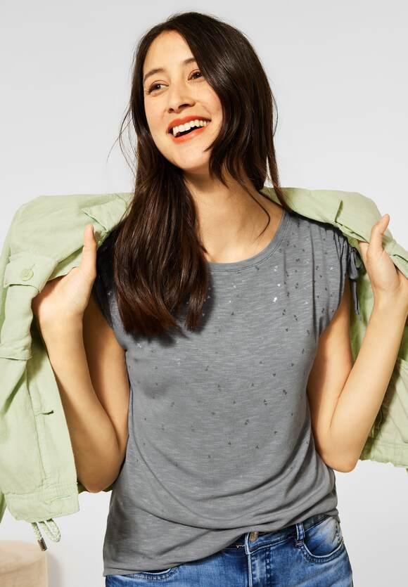 Street One   T-Shirt mit Folienprint   Farbe: light shadow green 23113, 316401