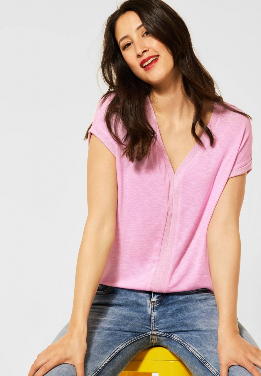 Street One   T-Shirt mit Schimmerdetails   Farbe: pearl rose 12999, 316221