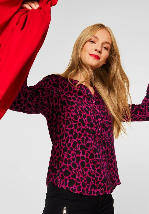 """Street One   Bluse """"Bamika"""" in softer Viskose   Farbe: full red 33319, 342852"""