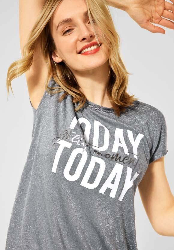 Street One   T-Shirt in Schimmer Optik   Farbe: light shadow green 33056, 316417