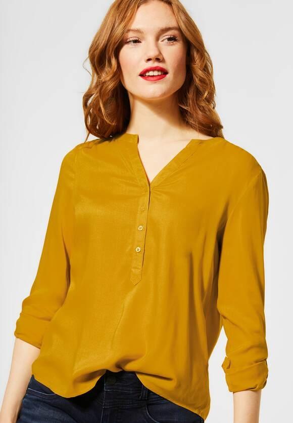 "Street One | Basic Bluse ""Bamika"" | Farbe: amber yellow 12455, 342276"
