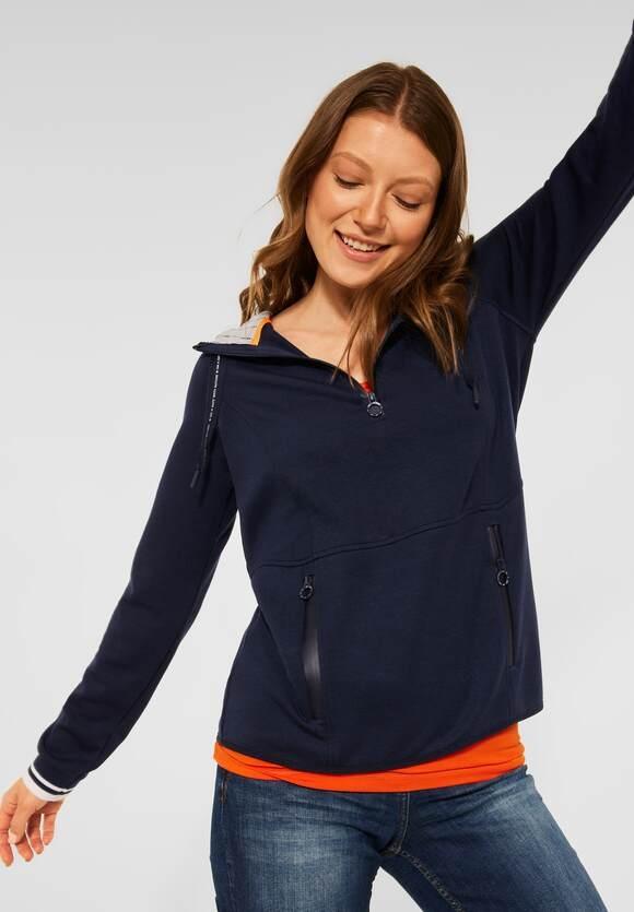 CECIL | Athleisure Sweatshirt | Farbe: deep blue 10128, 301594