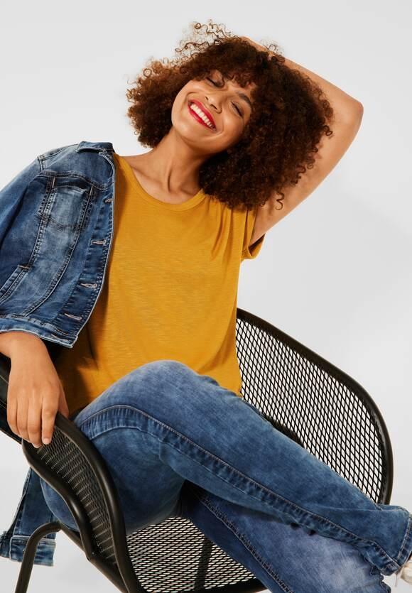 Street One | Shirt mit gerafften Schultern | Farbe: sulphur yellow 13165, 316761