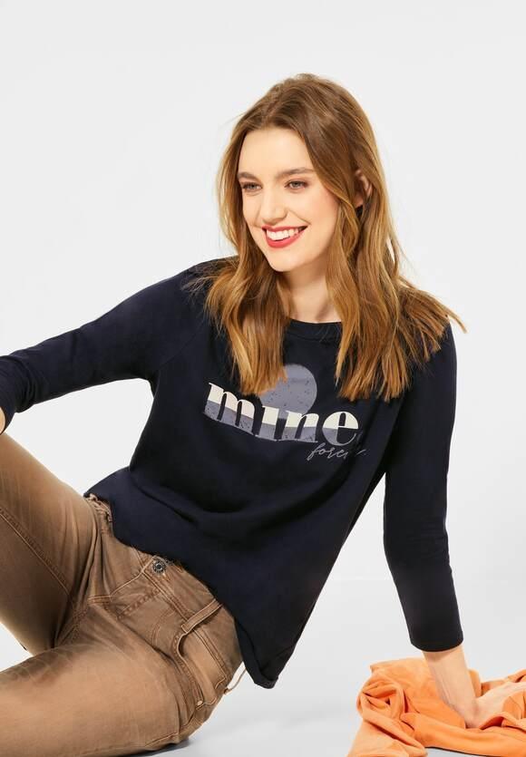 Street One   Shirt mit Frontprint   Farbe: dark blue 32552, 315954