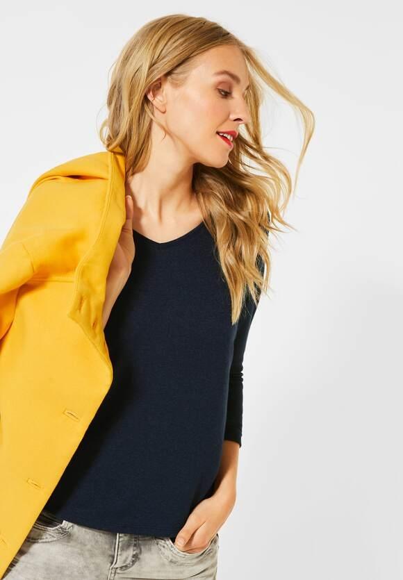 "Street One | Shirt ""Ellen"" in Melange-Optik | Farbe: dark blue mel 12512, 315375"