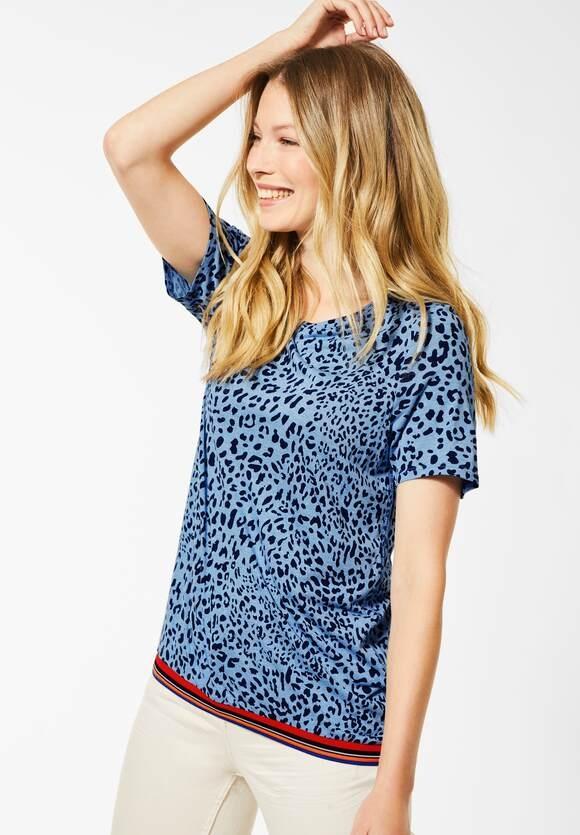 Cecil | T-Shirt mit Leomuster | Farbe: glacier blue 22470, 315279