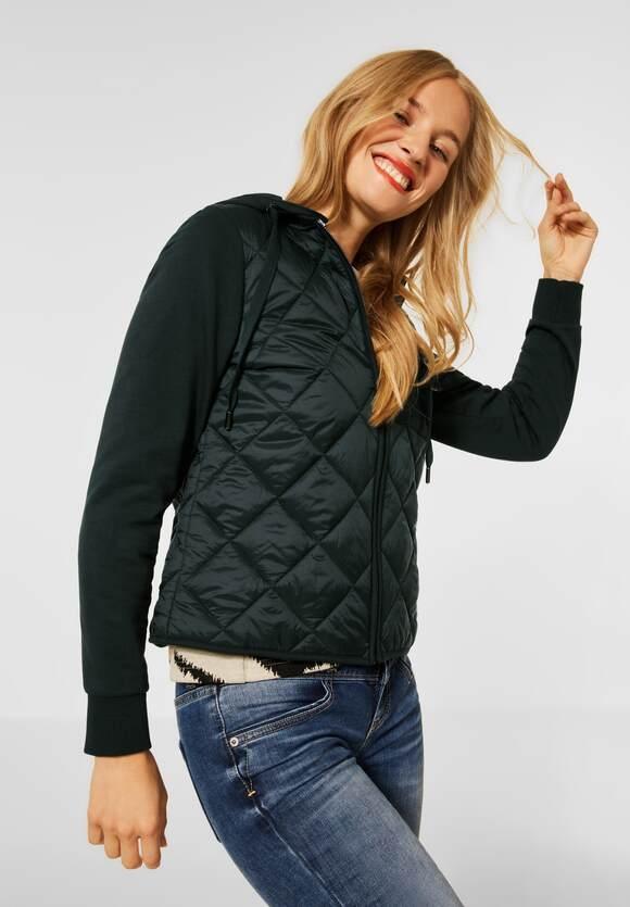 Street One   Indoor Jacke mit Kapuze   Farbe: endless green 12508, 211443
