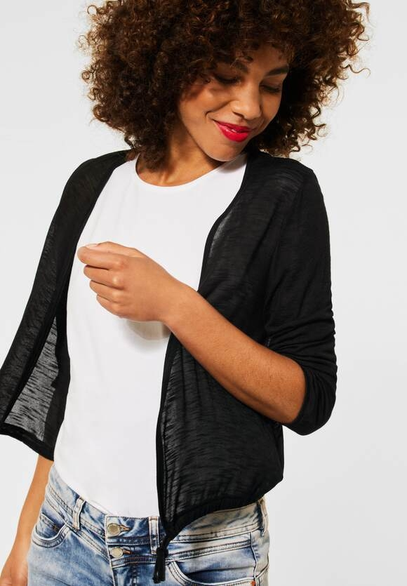 """Street One   Offene Shirtjacke """"Suse""""   Farbe: black 10001, 316375"""