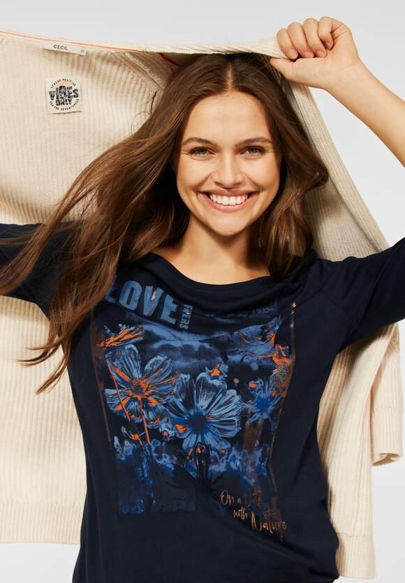 CECIL   T-Shirt mit Fotoprint   Farbe: deep blue 30128, 316930