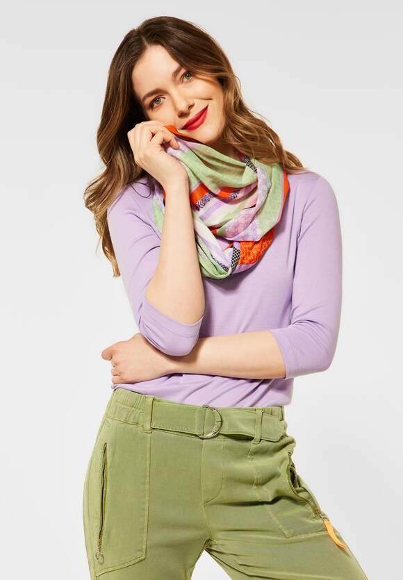 Street One | Loop mit Multicolour Print | Farbe: shiny tangerine 32905, 571535