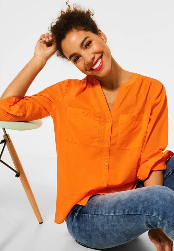 Street One | Bluse in Unifarbe | Farbe: shiny tangerine 12905, 342555