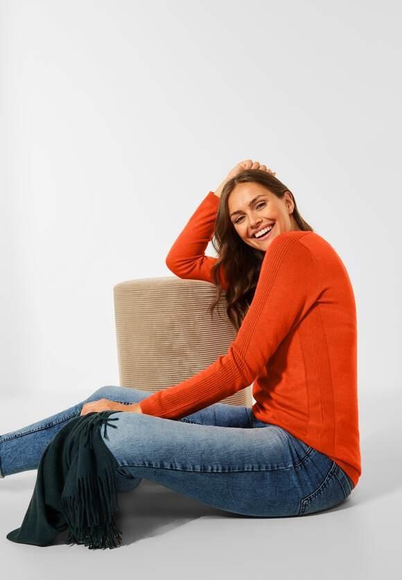 CECIL   Basic Pullover   Farbe: paprika orange melange 13377, 301549