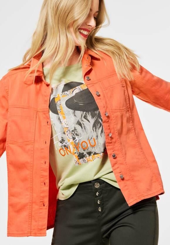 Street One | Indoor Jacke Denim-Style | Farbe: dark mandarine 13020, 211350