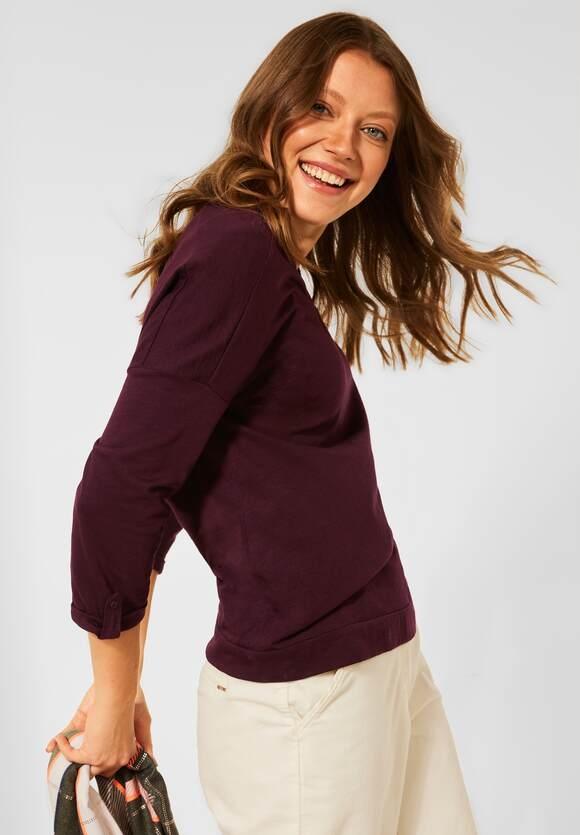 CECIL   Shirt mit V-Ausschnitt   Farbe: red grape 13133, 317084