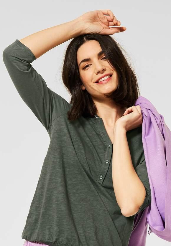 Cecil   Shirt mit Flammgarn   Farbe: soft khaki 12646, 315796