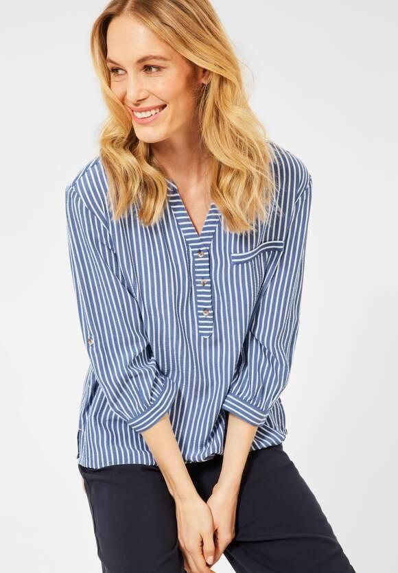 Cecil | Seersucker Bluse | Farbe: blouse blue 21838, 342626