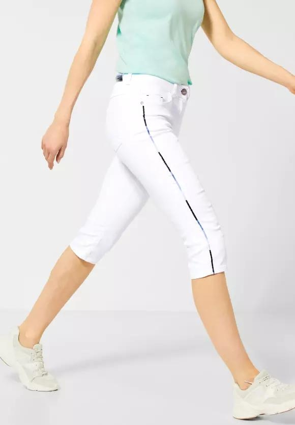 "Cecil | Weiße Capri-Denim ""Charlize"" | Farbe: white denim 10438, 373012"