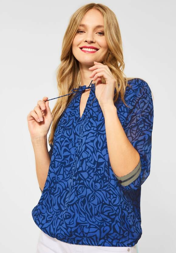 Street One | Chiffonbluse mit Printmuster | Farbe: eclipse blue 22986, 342590