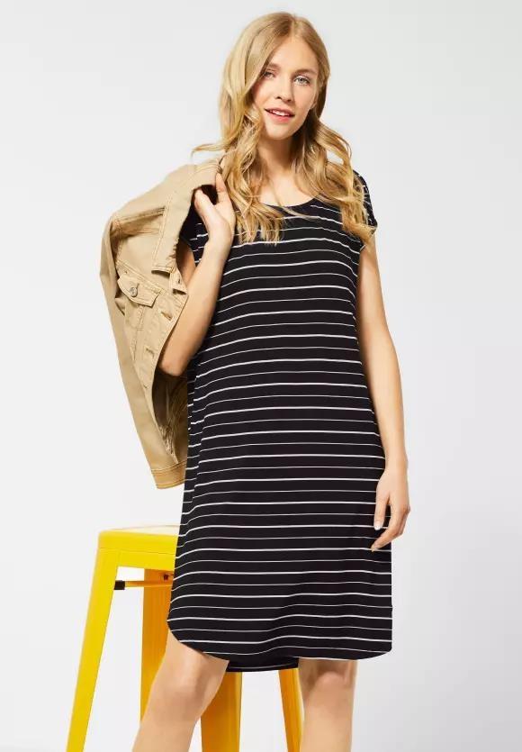 Street One | Shirtkleid mit Streifen | Farbe: black 20001, 142645