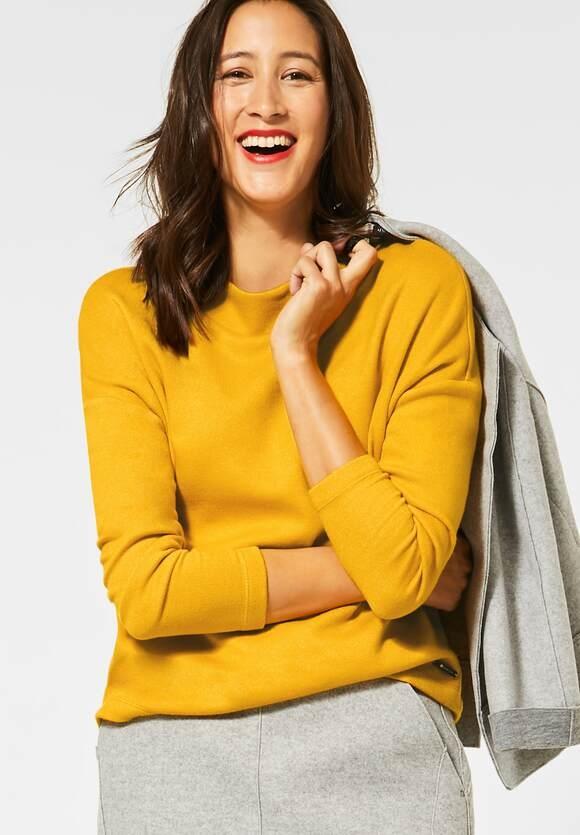 Street One | Shirt mit Stehkragen | Farbe: amber yellow mel 12461, 315502