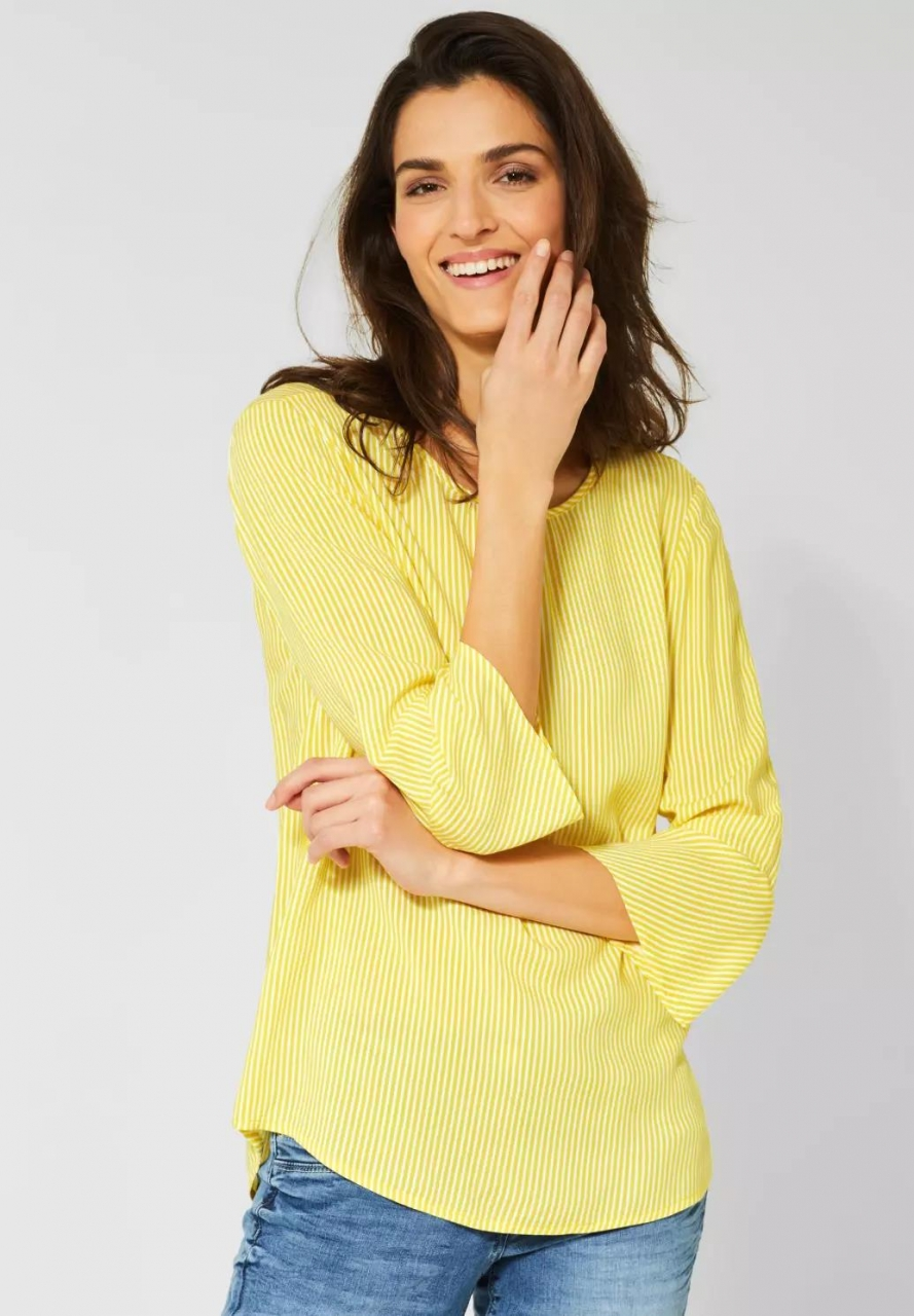 Cecil | Bluse mit Streifen | Farbe: fresh yellow 22098, 341848