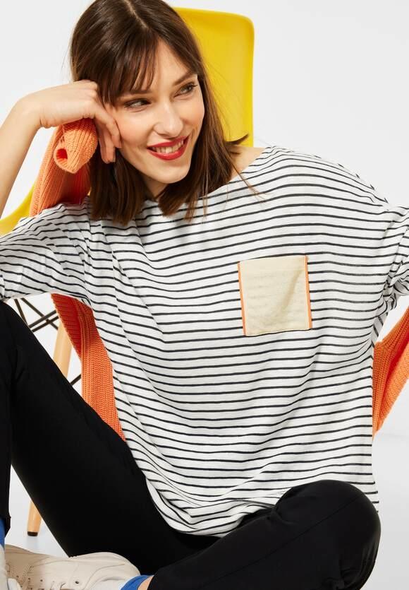 Street One | Oversize Shirt mit Streifen | Farbe: off white 30108, 315911