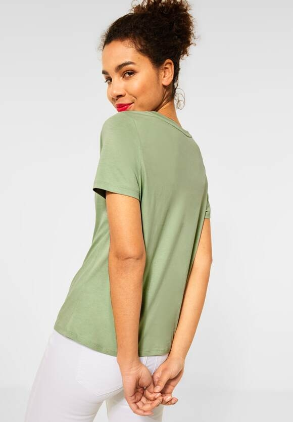 Street One   Basic T-Shirt   Farbe: faded green 12902, 316011