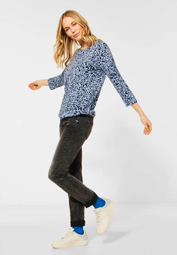 Cecil   Shirt mit Animal Print   Farbe: light blue mel 22356, 315924