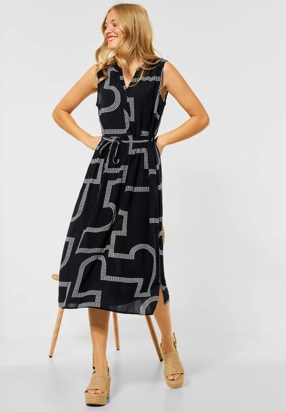 Street One | Midi Kleid mit Print | Farbe: black 20001, 142955
