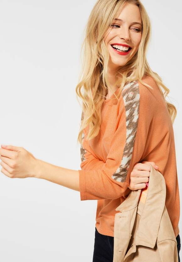 Street One   Softes Shirt   Farbe: strong mandarine melange 12812, 315918