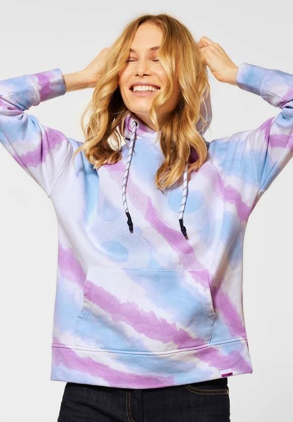 Cecil | Sweatshirt mit Tie Dye | Farbe: soft violet 32746, 211335