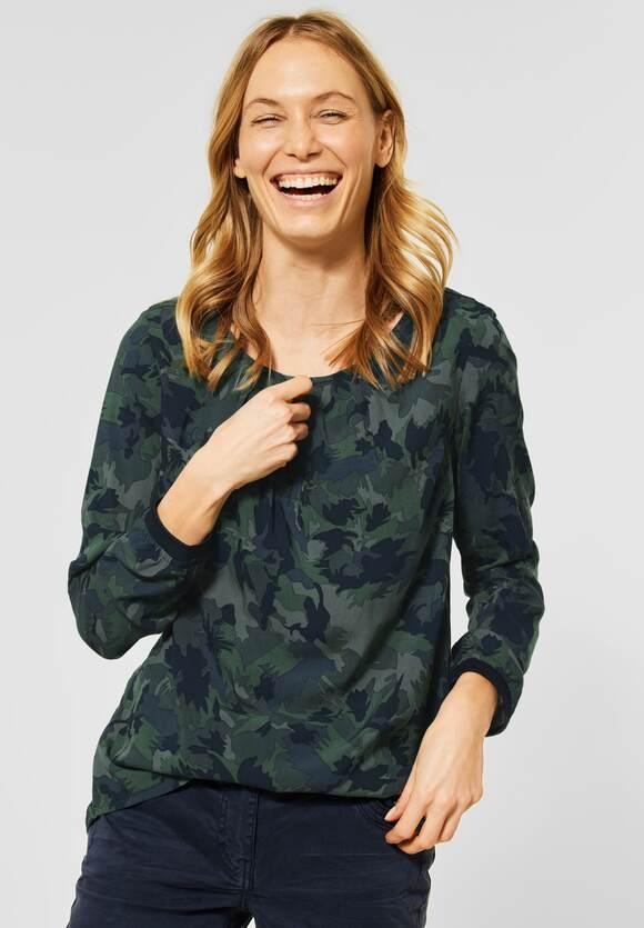 Cecil   Bluse mit Camouflage   Farbe: soft khaki 32646, 342404