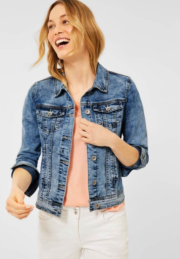 Cecil   Indoor Jacke in Denim   Farbe: light blue used wash 10349, 211346