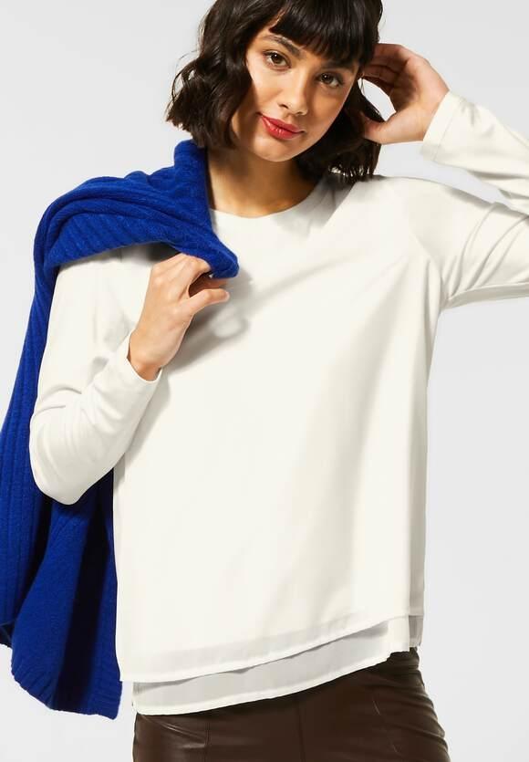 Street One   Shirt mit Chiffon   Farbe: off white 10108, 315631