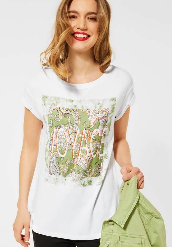 Street One | T-Shirt mit Print | Farbe: white 30000, 316116