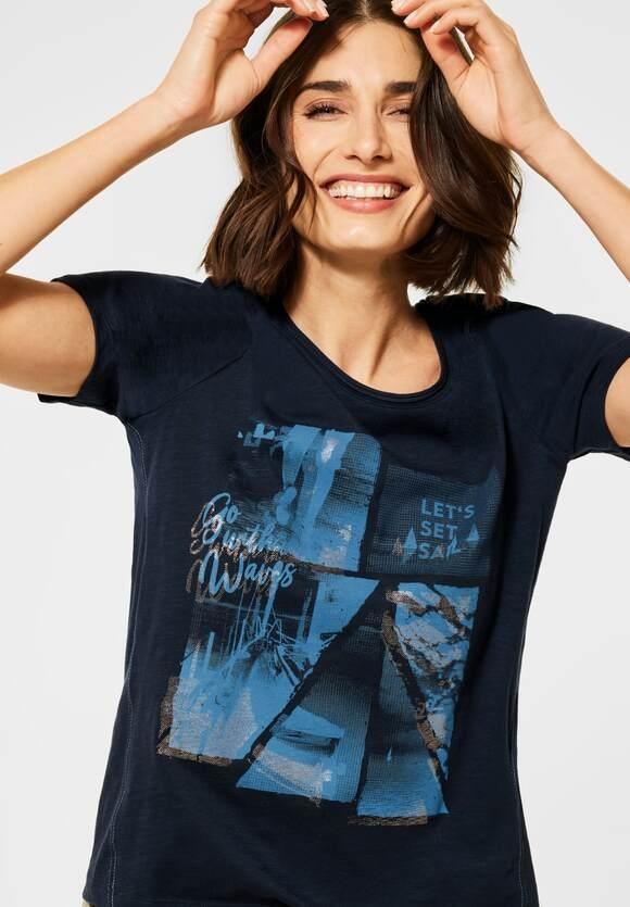 Cecil | T-Shirt mit Fotoprint | Farbe: deep blue 30128, 316038